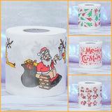 4 Style Home Santa Claus Bath Toilet Paper Christmas Supplies Xmas Decor Tissue Roll