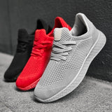 Men Sport Trail Running Shoes Mesh Breathable Youth Boys Tennis Shoes Big Size 45 46 47