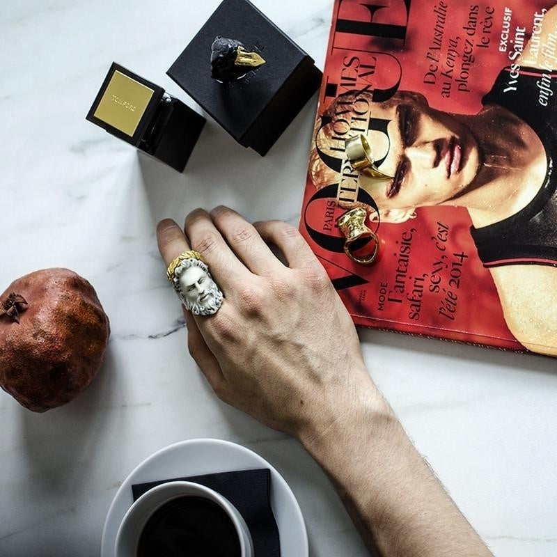 Zeus ring is a part of antiquity inspired line THEA by Macabre Gadgets