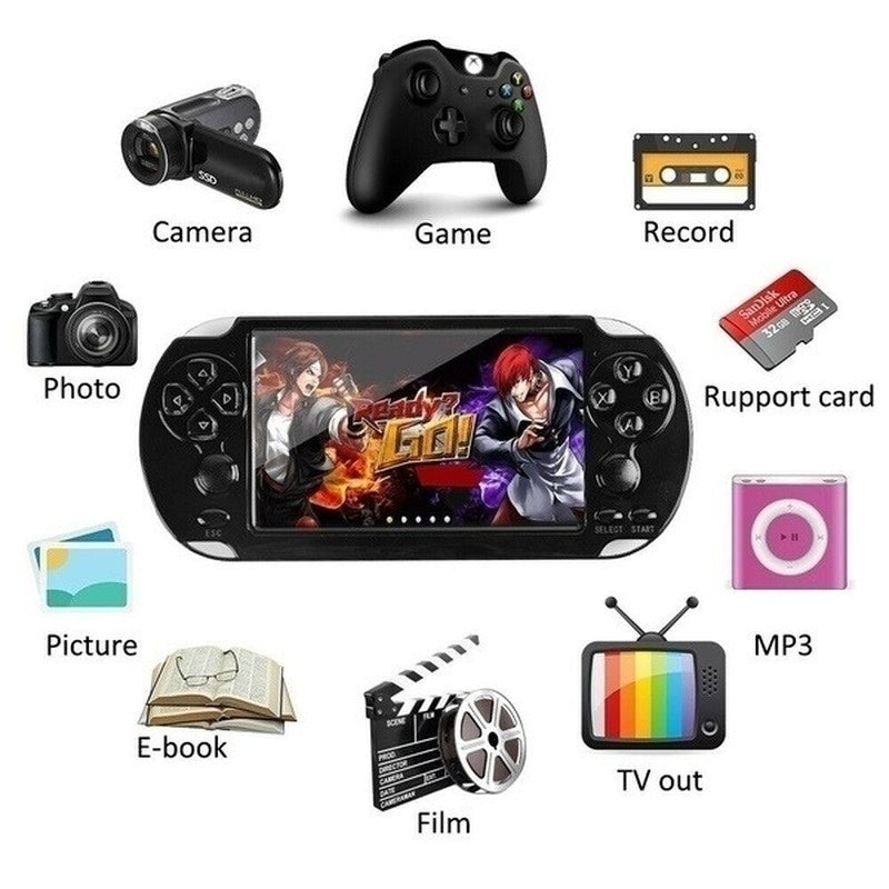 Upgrade Newest X9 Plus 5.1 Inch 10000+Games 16GB 8/16/32/64/128 Bit Video MP3 MP4 Player Camera Handheld Retro Game Console