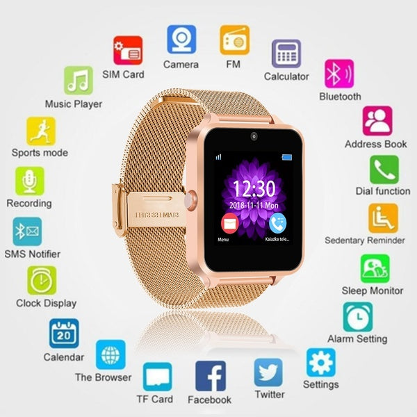 Z60 PLUS  Bluetooth Smart Watch Phone Pedometer Sedentary Remind Sleep Monitor Remote Camera Smartwatch