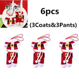 6Pcs Christmas Decorations Santa Claus Silverware Holders Pockets Dinner Decor High Quality