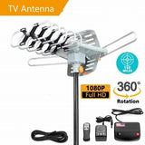150 Miles HDTV Outdoor Amplified Aerial HD TV 36dB Rotor Remote 360 Degree    C8