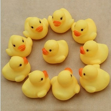 Toys Baby Swimming Bath Ducks Yellow Ducks Playing Ducks Children Bath Toys Knead Ducks Wholesale