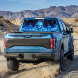 Truck Rear Window Decal Graphic Stickers Flaming Skull Car Window Sticker