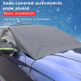 Magnetic Windshield Cover Auto Snow Windshield Cover with Four Magnets, Rear View Mirror Cover and Reflective Strip Fits Most Car Truck SUV Keeps Ice & Snow Off Exterior
