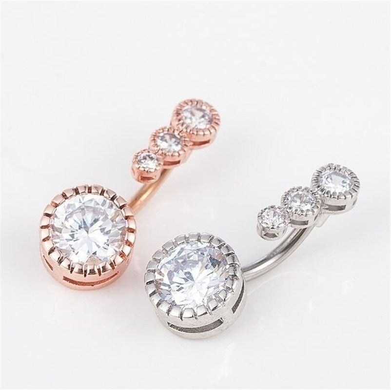 1 Pcs Fashion Navel Belly Button Rings Belly Piercing Crystal Surgical Steel Woman Body Jewelry Barbell Women Accessories