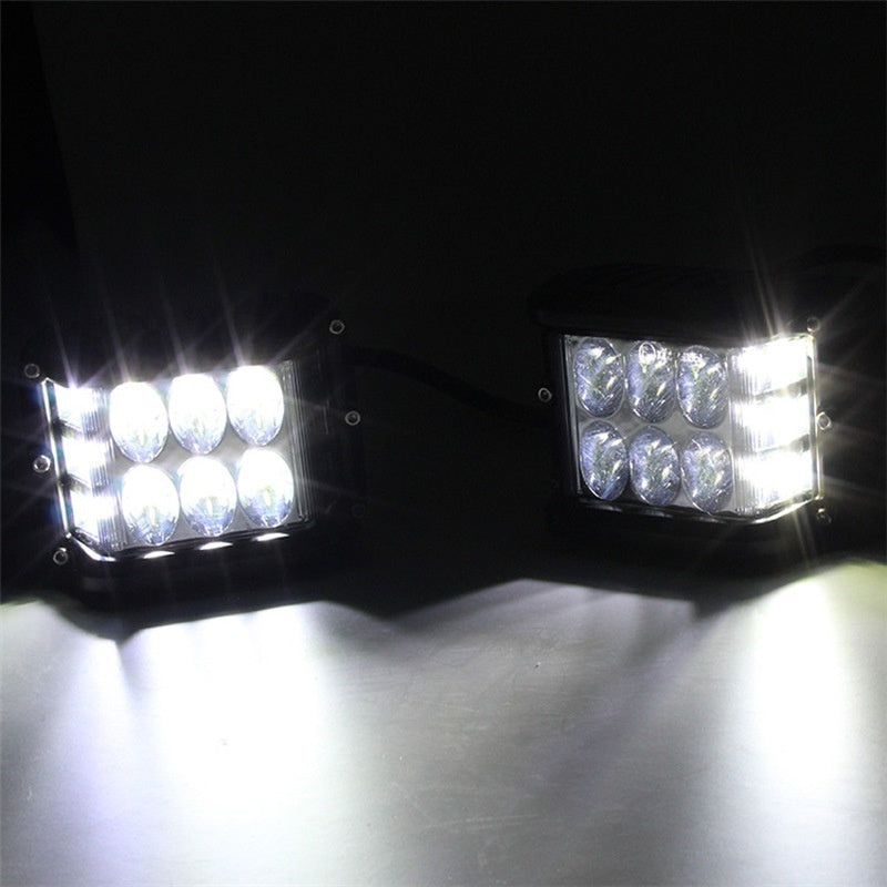 1PCS 2PCS 4' INCH 72W Side Shooter Pods Combo LED Work Light Strobe Lamp Four Colors Are Available