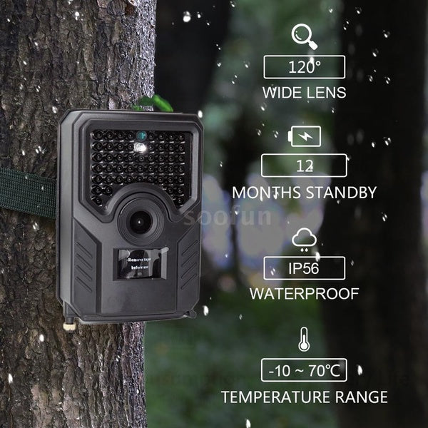 12MP 1080P Trail Camera Hunting Game Camera Outdoor Wildlife Camera with PIR Sensor 65ft Infrared Night Vision IP56 Waterproof