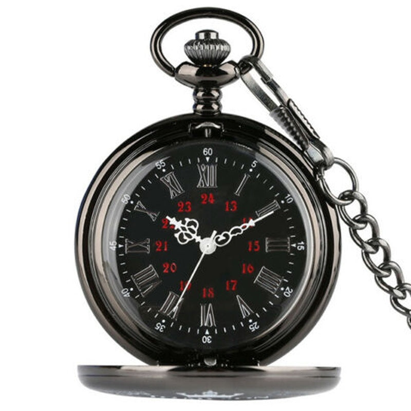 TO MY SON Vintage Quartz Pocket Watch I LOVE YOU Fob Chain Pendant Flip Clock Best Gifts for Sons Quartz