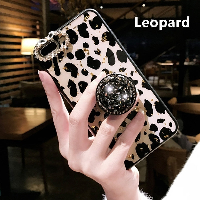 Bling Bling Leopard Print Phone Case For IPhone 6 6S Plus 6 7 8 Plus X XR XS Max 11 11Pro 11 Pro Max Leopard Skin Glitter Rhinestone Cases Phone Bag Back Cover for Iphone Cases