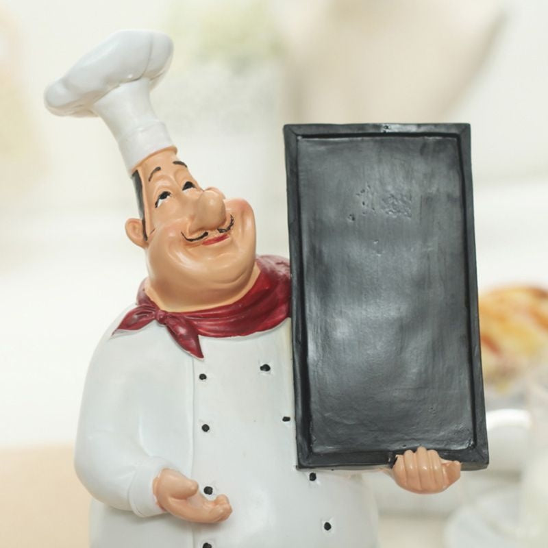European Retro Chef Model Decoration Resin Crafts Mini Chef Statue Decoration SMI