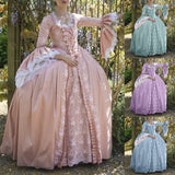 Medieval Renaissance Women's Long Sleeve Victorian Ball Gown Flare Sleeve Maxi Long Dresses Plus Size Vestidos