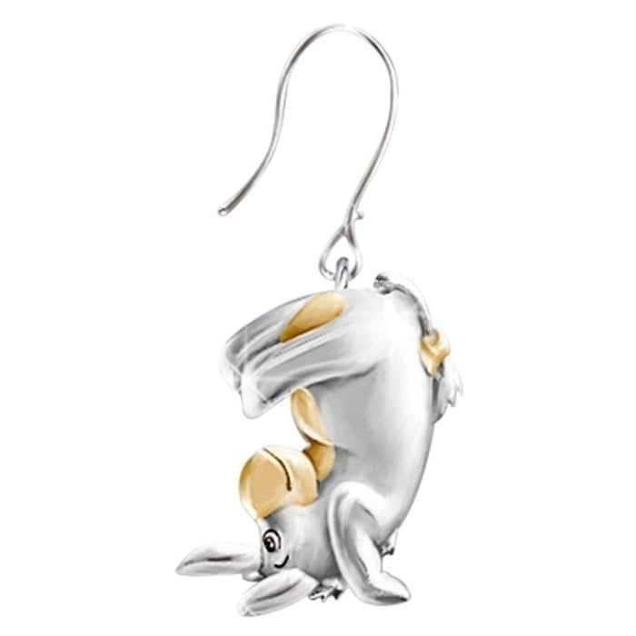 Exquisite Fashion 925 Silver Gold Two Color Cute Elephant Earrings Fashion Animal Jewelry Charm Party Gift Christmas Gift Fashion Accessories