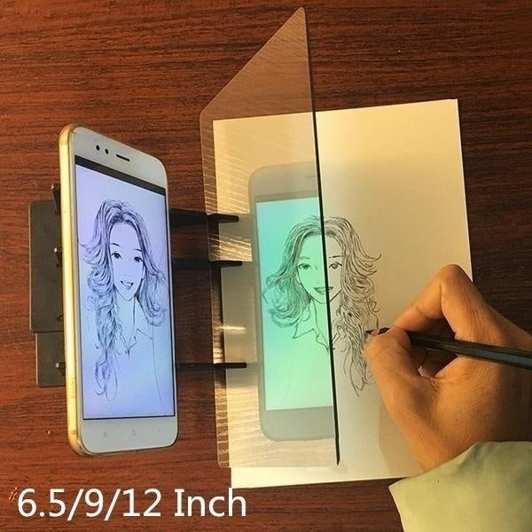 2020 Newest 2/4/6.5/9/12inch Easy To Paint Sketch Assistant Painting Stand Optical Drawing Projector Painting Tracing Board Sketch Drawing Board Drawing Tools