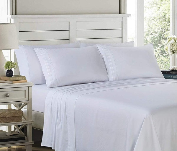 Lux D¨¦cor 6-Piece 1800 Series Sheet Set Queen