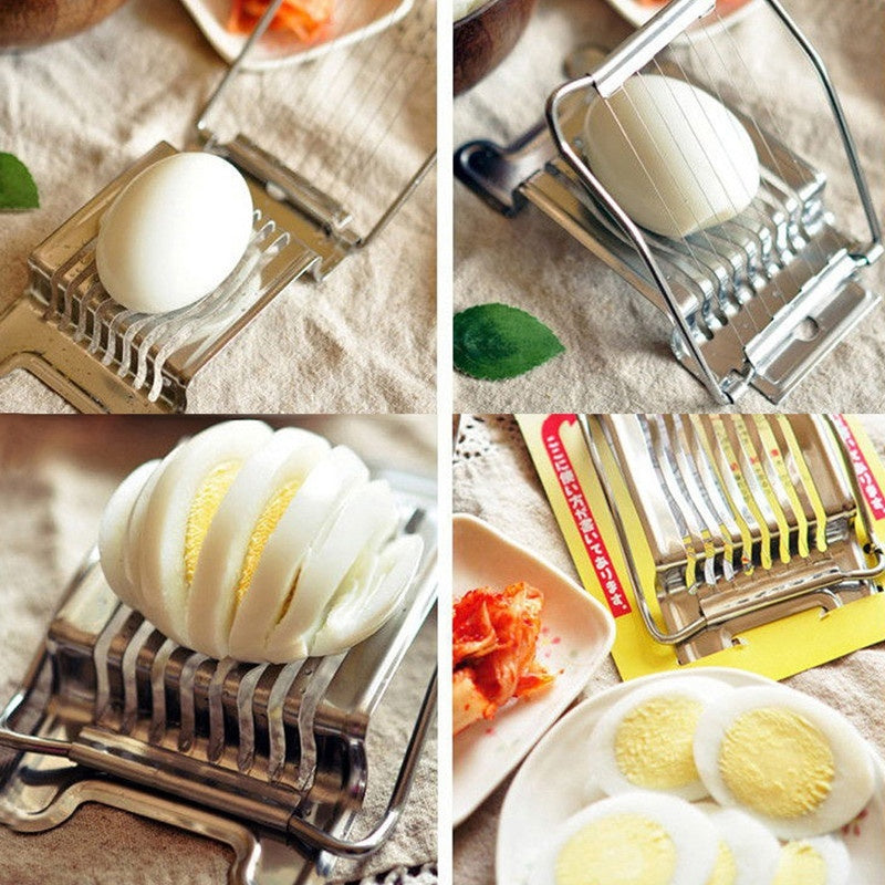 Stainless Steel Boiled Egg-Slicer Section Cutter Mushroom Tomato Cutter Kitchen Skiving Machine Cooking Accessory