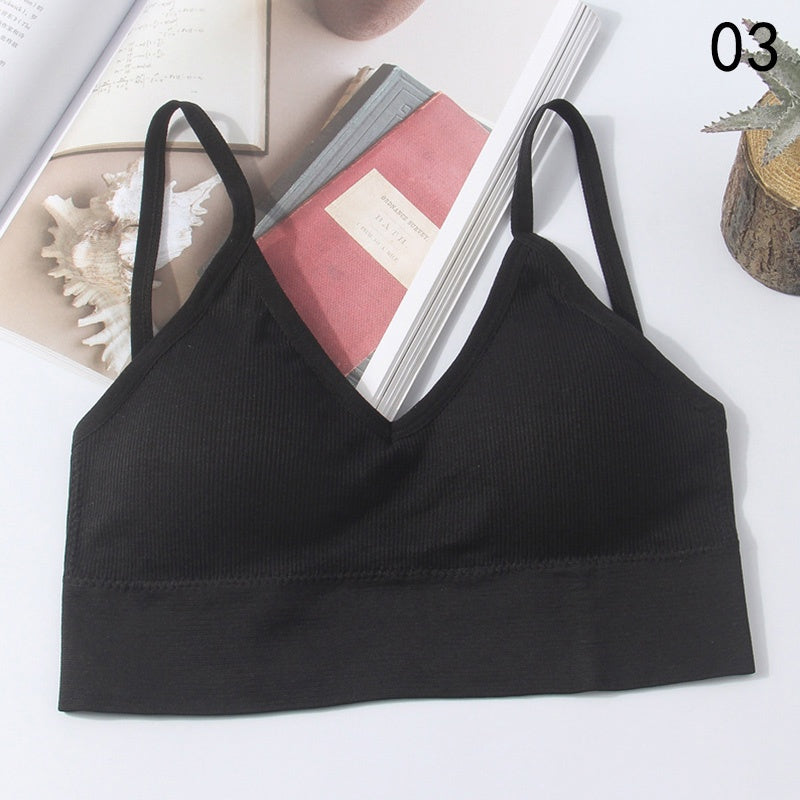 Women Sleep Bra Casual Crop Top Sports Bra Tank Tops Girls Underwear Seamless Wrapped