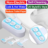 Non-Electric  Bidet Toilet Seat Attachment, Home Bidet For Toilet, Toilet Jet Spray Self-Cleaning and Retractable Nozzle, Toilet Sprayer Toilet Water Spray Cold&Hot Water