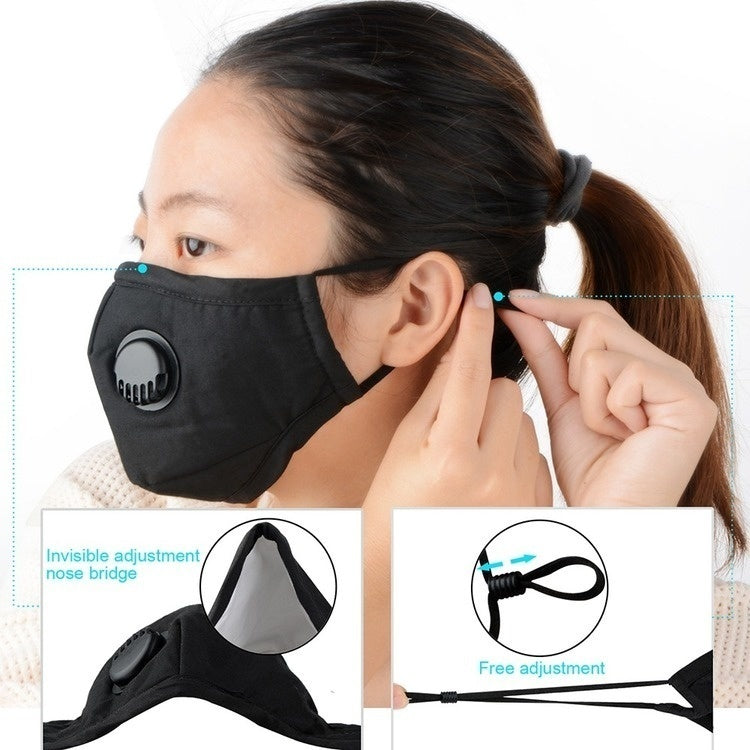 1pcs/2pcs KN95 Face Mask Dust Mask Anti Pollution Masks PM2.5 Activated Carbon Filter Insert Can Be Washed Reusable Isolate virus