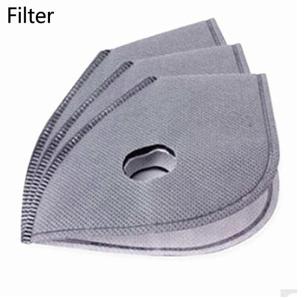 Bicycle Motorcycle Ski Cycling Anti-pollution Antiviral Coronavirus Face Mask Outdoor Sports Mouth-muffle Dustproof Filter Activated Carbon PM 2.5