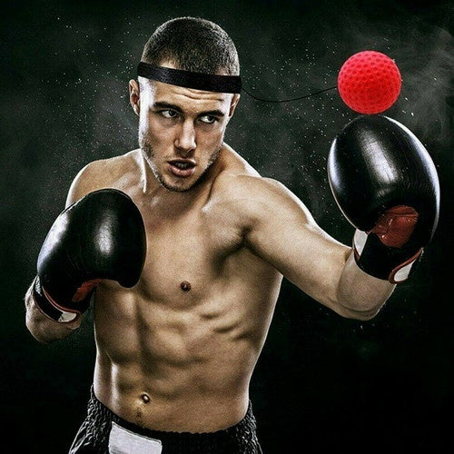 Fight Ball Reflex Boxing REACT Training Boxer Speed Punch Head Cap String Ball