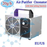 High Quality Ozonator 20g/h Ozone Machine Air Purifier Air Cleaner Disinfection Sterilization Cleaning Formaldehyde Air Filter Fan For Home