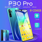 P30-pro mobile phone 8GB RAM + 256GB ROM 6.3 inch touch screen dual card MTK6797 4-core GSM 3G WCDMA 4G smartphone