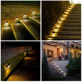 8Pack Solar Deck Lights Stainless Steel Solar Lights Outdoor Waterproof LED Solar Powered Super Bright Deck Lights Solar Step Lights Patio Solar Lights Solar Lights Outdoor Wall Mount