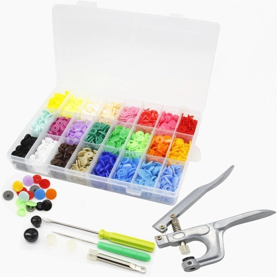 150/300/360/480Sets 600/1440/1920 Pcs 24 Colors DIY Clothes T5 Plastic Fastener Snap Resin Press Stud Cloth Tool Kit