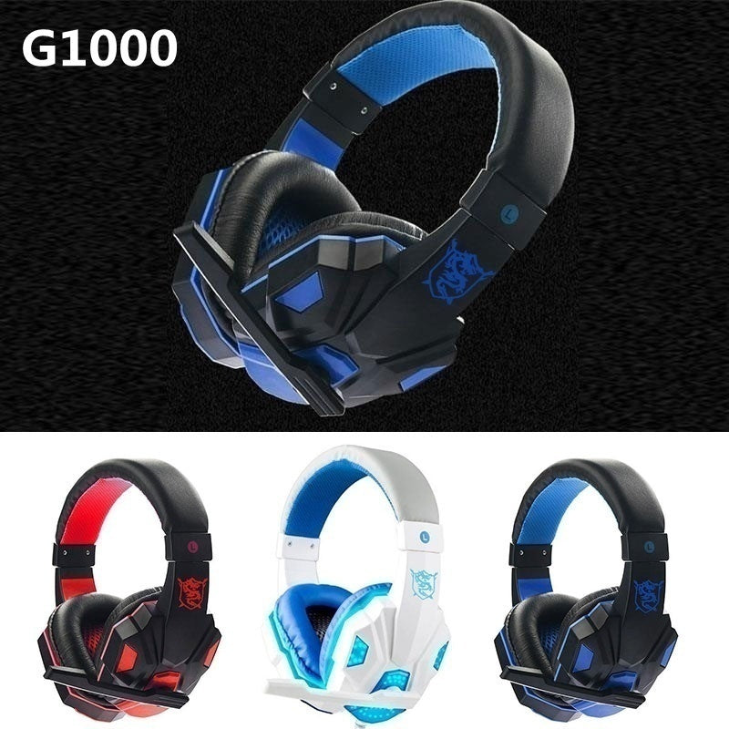 Upgrade 5D Surround LED Mic Headset Headphones Hifi Stereo Noise Reduction For PC Gaming Laptop PS4 XBOX Gaming Gamer With Adapter
