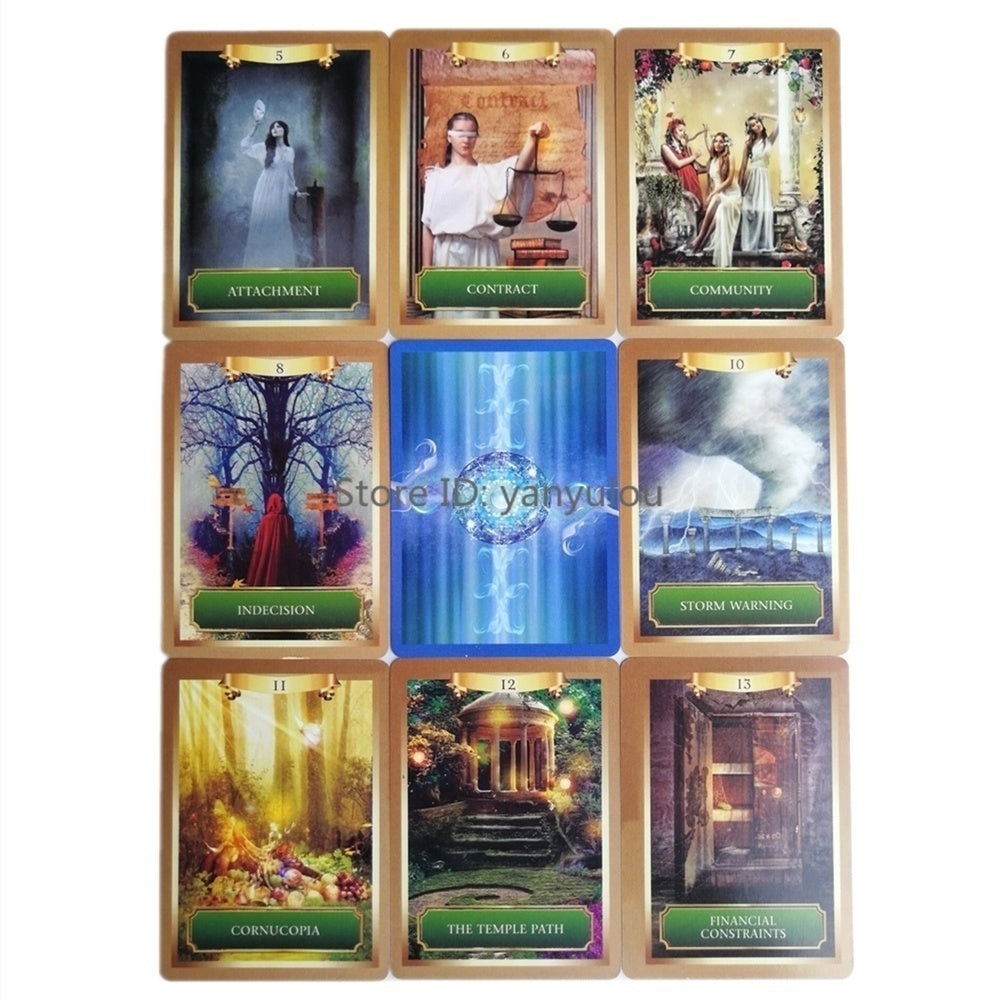 Oracle Cards English Read Fate Card Game Board Game Earth Magic Oracle Cards Tarot Deck For Personal Use 10 Styles