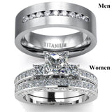 Fashionable and exquisite 925 Silver Ring Square white sapphire Exclusive to love Valentine's ring Engagement gift wedding ring Anniversary gift Party Jewelry Size 5-14