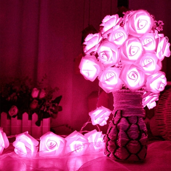 10/20Pcs Party LED Rose Flower Christmas Holiday String Lights For Valentine Wedding Decoration LED Lamp