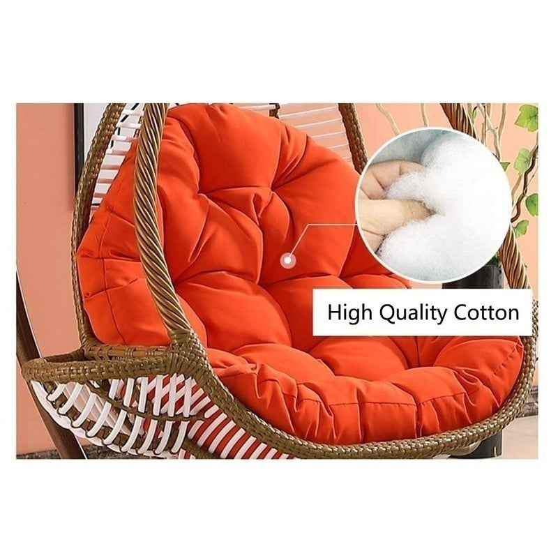 Hanging Egg Swing Chair Cushions, for Indoor Outdoor Patio Backyard Stilvoll Comfortable Relaxing with Cushion(Without Chair)