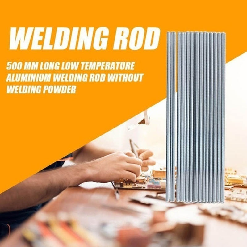 10/20/30PCS Aluminum Welding Rods Low Temperature Solder Wire Brazing Repair Rods Welding Sticks Flux Cored Soldering Rod(Size:330/500mm*1.6/2/3.2mm)