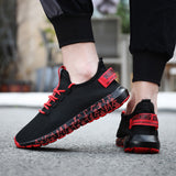 Casual Sports Shoes for Men Ultra Lightweight Running Shoes Breathalbe Knit Sneakers Men Tennis Trainers for Man