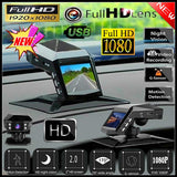 High Quality 1080P Dash Cam Car Video Driving Recorder With Center Console LCD HD Recorder WDR 170¡ã  Recorder ADAS G-sensor Screen Rearview Mirror Dash Cam Camera Video Recorder Stream Media Player