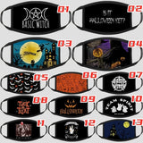 1/2/3/5PCs Unisex Gothic Halloween Fashion Punk Basic Witch Protection Face Mask 3D Anti-Dust Cotton Halloween Masks 1PC