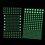 202pcs/sheet 3D Bubble Luminous Stars Dots Wall Stickers Glow in the Dark DIY Sticker Kids Bedroom Decals Home Decoration