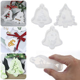 1/3PCS DIY Pendant Jewelry Making Tools Elk Hanging Tags Xmas Ornament Crystal Resin Mold Silicone Mould Epoxy Resin Molds