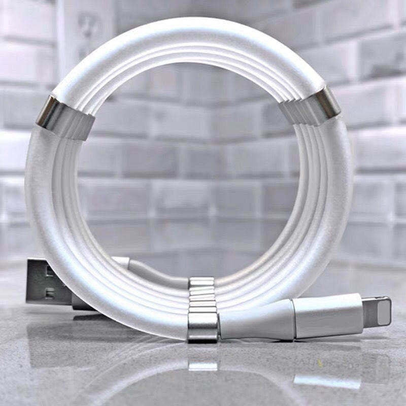 2020 Hot Magnetic Easy-Coil Cable Absorption Data Cable 2.4A Fast Magnetizing Data Cable
