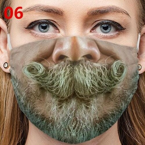 3D Printing Unisex Funny Mouth Lips Print Mask Washable Breathable Reusable Face Mask Cute Cotton Breathable Cover Masks Windproof Anti-Dust