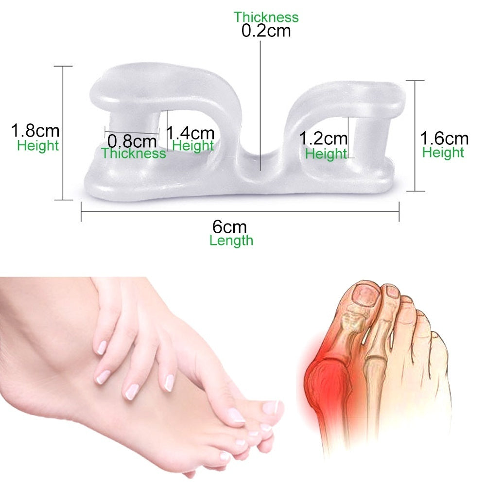 1Pair Toe Separators for Overlapping Toes, Toes Bunion Corrector Hallux Valgus Corrector Splint Toes Straighteners Pain Relief
