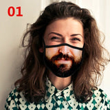 New Funny Printed Face Mask Unisex Adult Cotton Mouth Mask Dustproof Reusable Mask