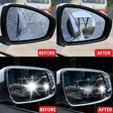 Rainproof film, car rearview mirror rainproof film, side window reversing mirror water repellent film,reflector anti-fog nano film