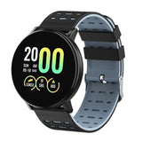 New 119Plus Colorful Touch Screen Smart Watch Men Clock Blood Pressure IP67 Waterproof Smartwatch Heart Rate Monitor Fitness Tracker Watch Sport Smart Band for Android IOS