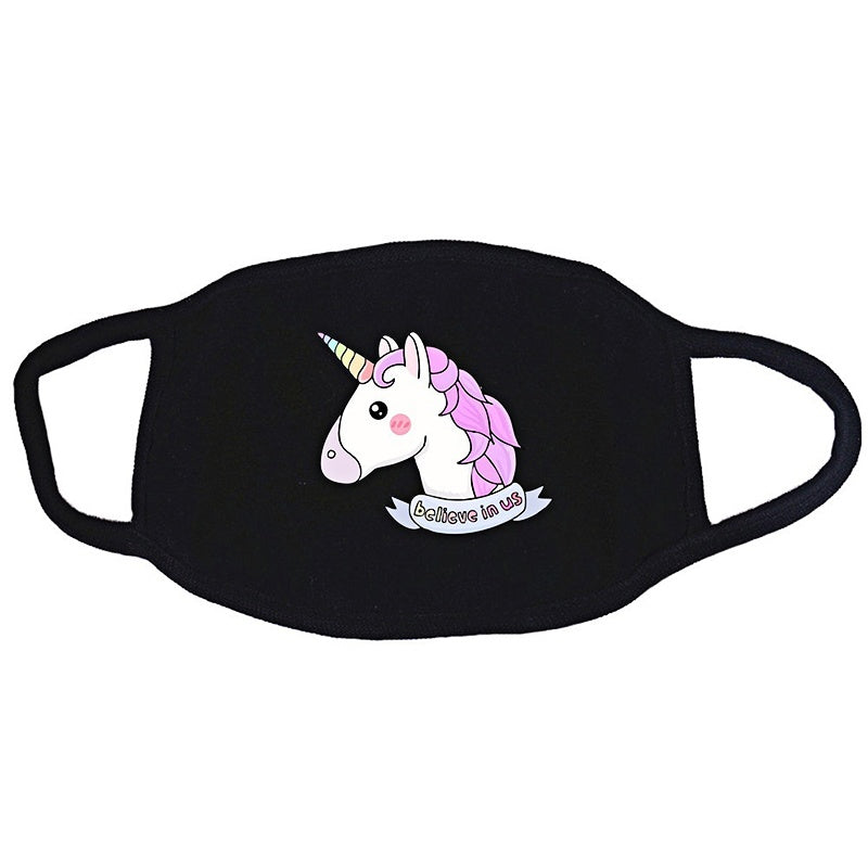 13 Styles Cartoon Unicorn Face Masks Cotton Mask PM2.5 Anti-dust Face Mask for Man Women Children Kids Breathable Washable Mouth Mask