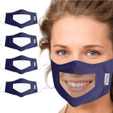 Child/Adult Mask With Clear Window Face Cloth For The Deaf And Hard Of Hearing