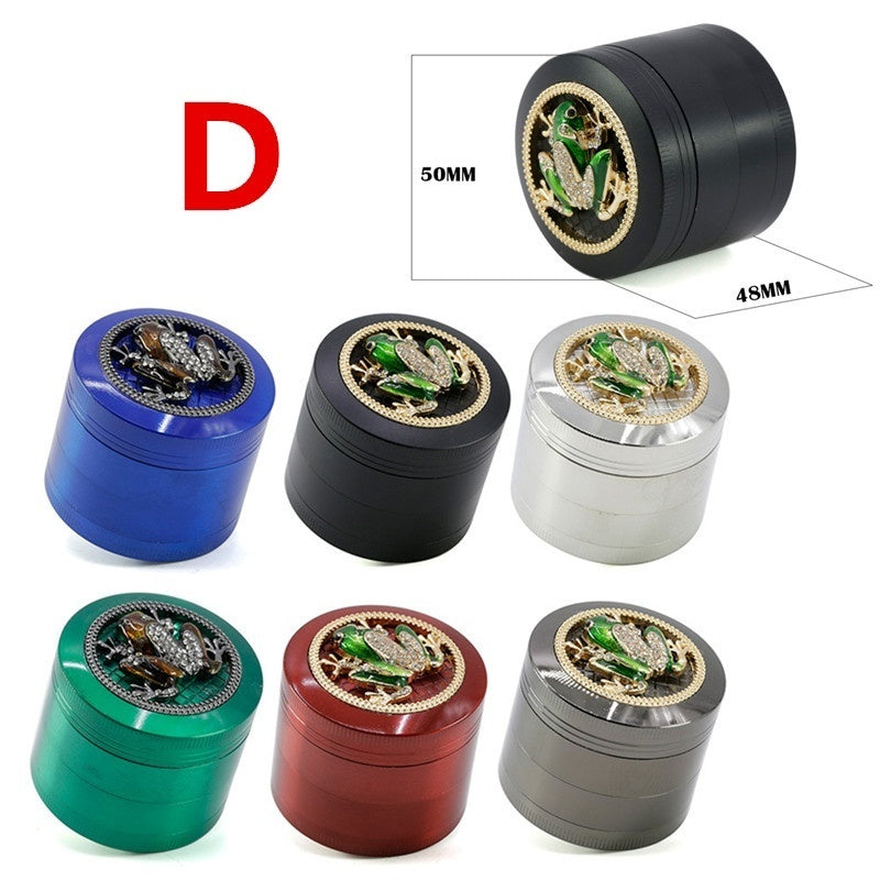 4 Layers Metal Diamond Tobacco Herbal Grinder Skull Spider Tobacco Crusher Smoking Accessories